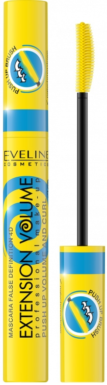 купить Eveline Cosmetics Extension Volume Mascara False Definition 4D Push Up Volume and Curl Mascara недорого