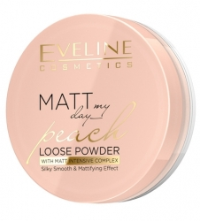 Пудра Eveline Cosmetics Matt My Day Peach Loose Powder