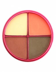 Тени для век Flormar Pretty Compact Quartet Eye Shadow