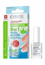Уход Eveline Cosmetics Nail Therapy Professional 8 in 1 Sensitive