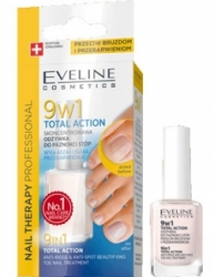 Уход Eveline Cosmetics Nail Therapy Professional 9 in 1 Total Action