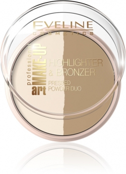 купить Eveline Cosmetics Professional Make-up Highlighter & Bronzer Pressed Powder недорого