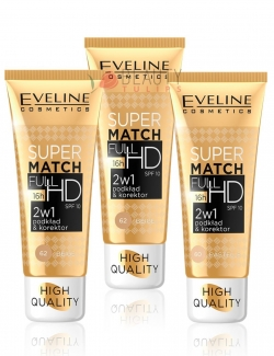 купить Eveline Cosmetics Super Match Full HD SPF10 недорого